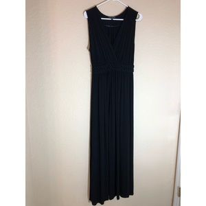 Cable and Gauge black maxi dress